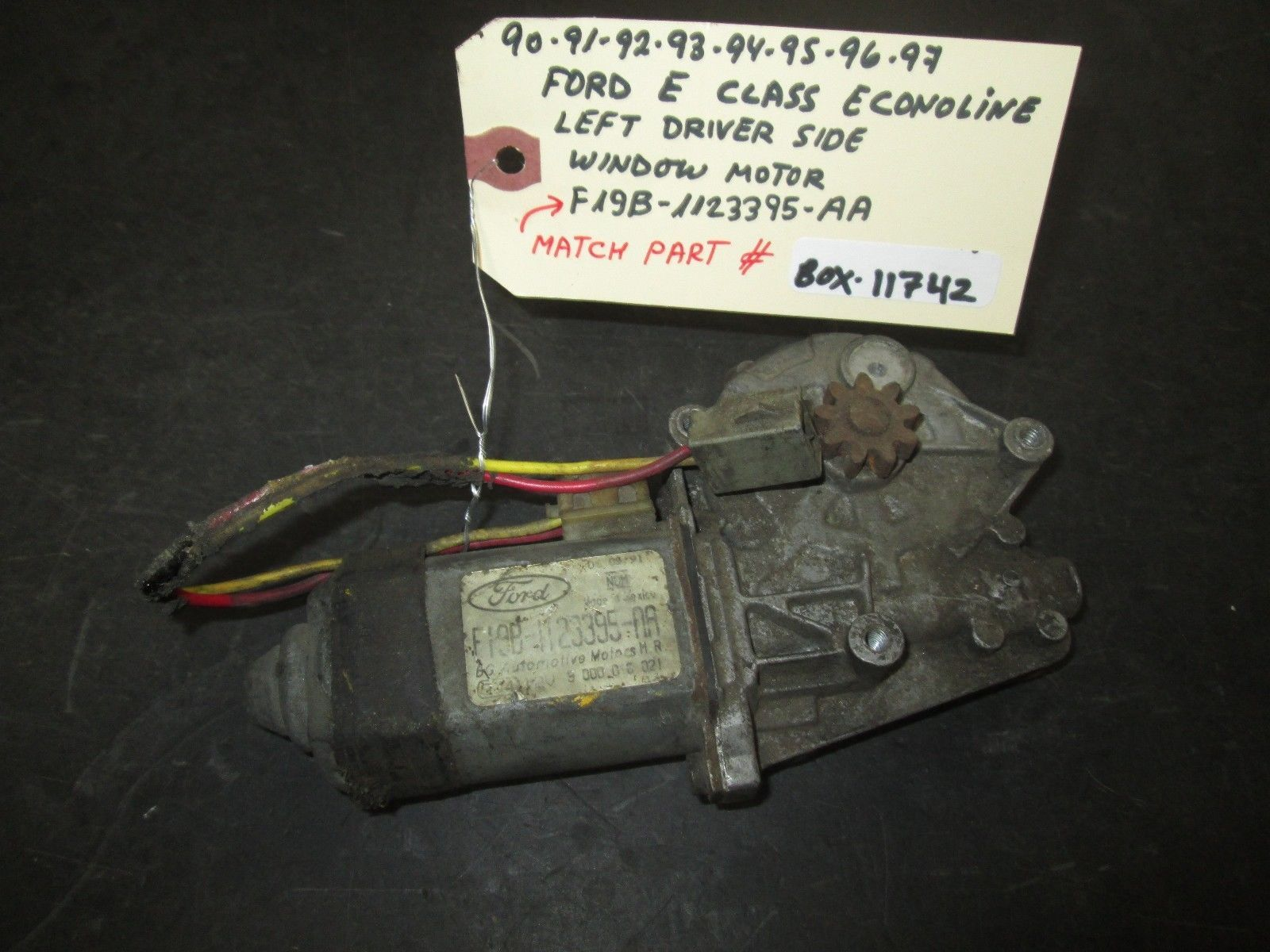 Primary image for 90 91 92 93 94 95 96 97 FORD E CLASS ECONOLINE LEFT DRIVER SIDE WINDOW MOTOR