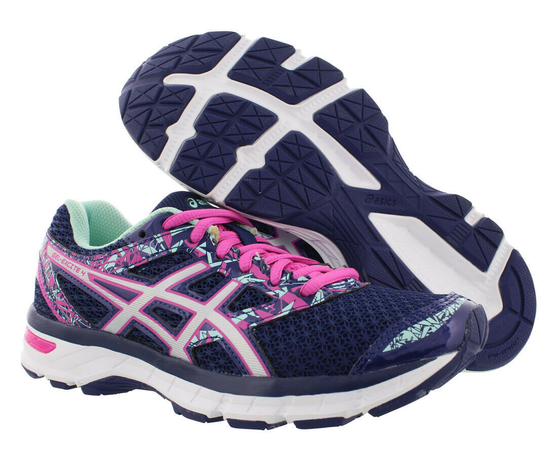 Asics womens Gel Excite 4 Navy Pink Running Shoes Sneakers 10/ 42 EUC image 11
