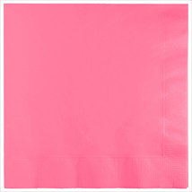 3 Ply 1/4 Fold Dinner Napkins Candy Pink/Case of 250 - £30.84 GBP