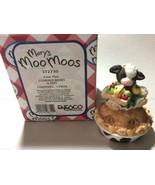 Mary Moo Moos Enesco 1998 Figurine Mary Rhyner green dress Cow Pie box t... - $17.82