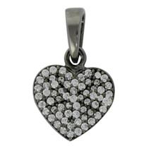 Cubic Zircon Gemstone 925 Sterling Silver Women Heart Shape Pendant - $6.00