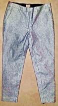 SILVER METALLIC SEXY DRESS CAPRI PANTS TROUSERS  H&M ~SIZE 4 - $27.10
