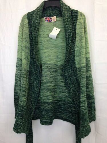 Vintage Brittania Sportswear Green Wrap Sweater Knit Cardigan Sz M