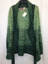 Vintage Brittania Sportswear Green Wrap Sweater Knit Cardigan Sz M image 1