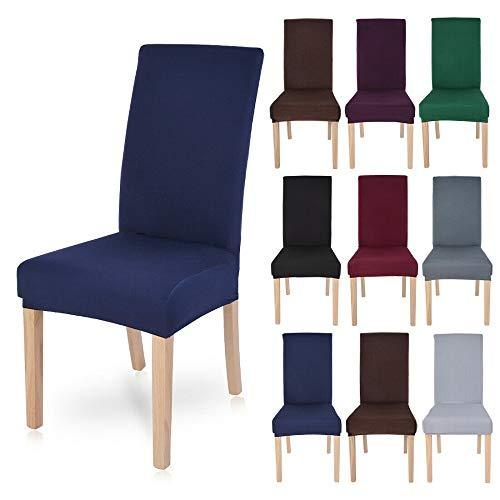 Polyester Spandex Fabric Stretch Dining Room Chair Seat Covers Slipcovers 1/2/4/ - $43.56