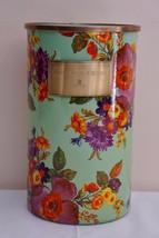 MacKenzie Childs Flower Market Green Enamel Utensil Holder New - $51.41
