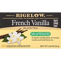 Bigelow Decaffeinated French Vanilla Tea 20 Bags Pack of 6 Decaffeinated... - $24.68