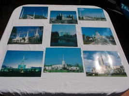 SET OF 9 COLOR LDS MORMON TEMPLE PORTRAIT PHOTOS PICTURES 8 X 10 LIST IN... - $4.99