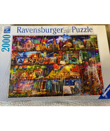"""Ravensburger Puzzle """"World of Books"""" 2000 Piece 29.5"""" x 38.5"""" Aimee - $24.99"""