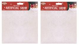 2 LARGE BAGS CHRISTMAS SNOWFLAKES FAKE ARTIFICIAL SNOW 10oz DECORATION D... - $121,54 MXN