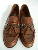 Bass Womens Brown Leather Upper Loafer Shoes Size 9M - $23.99