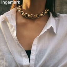 Exaggerated Vintage Ancient Choker Necklace Pendant Women Statement Lock... - $12.46+