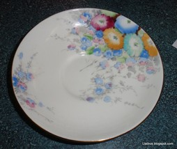 Antique Crown Staffordshire England Fine Bone China Plate / Saucer R15612 - $2.51