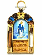 Catholic Virgin Mary Queen Of Heaven Home Blessing Wall Hanging Holy Wat... - $18.66