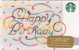 Starbucks 2014 Confetti Birthday Collectible Gift Card New No Value - $4.99