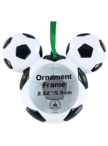 Disney Parks Mickey Mouse Soccer Ball Photo Frame Ornament