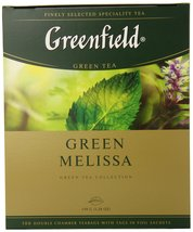 Greenfield Tea, Green Melissa, 100 Count - $20.48
