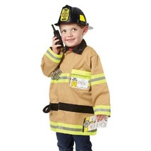 Melissa & Doug FireFighter Role Play Costume 6 Piece Dress-Up Set Ages 3-6yrs - $25.24