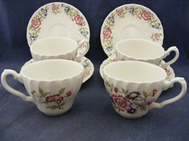 4 Franciscan Mandarin Cup & Saucer Sets Mint Condition Staffordshire Eng... - $19.95