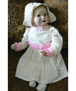VTG Reproduction of Holly Hunt 1989 Baby Doll Thumb Sucking Porcelain 20... - $41.18