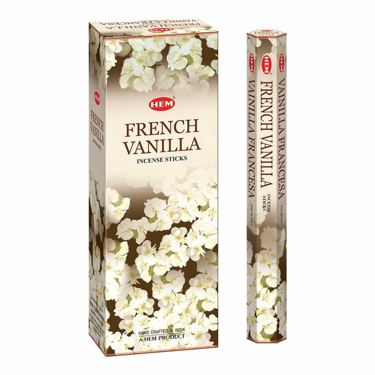 Hem French Vanilla Sticks Beautiful Handmade Natural Fragrances 6x20 Sticks - $16.23