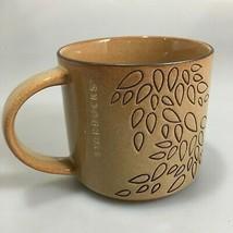 Starbucks Brown Engraved Leaves Coffee Mug 14 oz 2013 NEW Stackable - $25.97