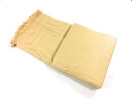 "nid d'abeille GAUFRE beige woven100 % coton tasselledsuper King throwblanket100"" - $55.49"