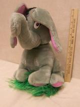 """Vintage 1983 Dr Seuss HORTON Elephant Plush 13"""" Coleco Gray - $29.65"""