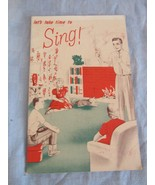 Let's Take Time to Sing Vintage Book Crowley's Milk Company 17 Pages - $14.89