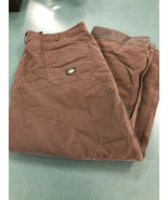 Dickies Sanded Duck Insulated Pant Dark Brown Size Large - $49.99