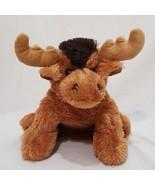 "Moose Brown Bean Bag Plush Stuffed Animal Toy 7"" Maple Leaf - $11.59"