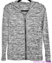 Juicy Couture Sweater XS Zip Hoodie Rhinestone Cardigan Long Sleeve Gray Hooded - $25.69