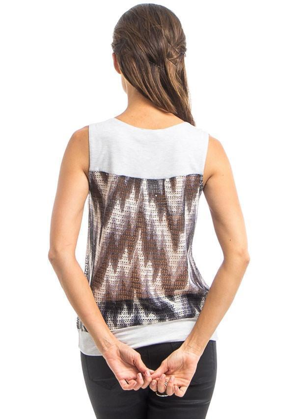Women's sleeveless trendy printed summer top
