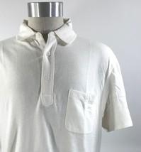 J Crew Mens Textured Pocket Polo Shirt Size XL Cream Beige Short Sleeve NEW - $31.67