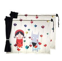 Set of 2 Cartoon Car Curtains Sunshades Sucker Type Sunshades, Red Hat