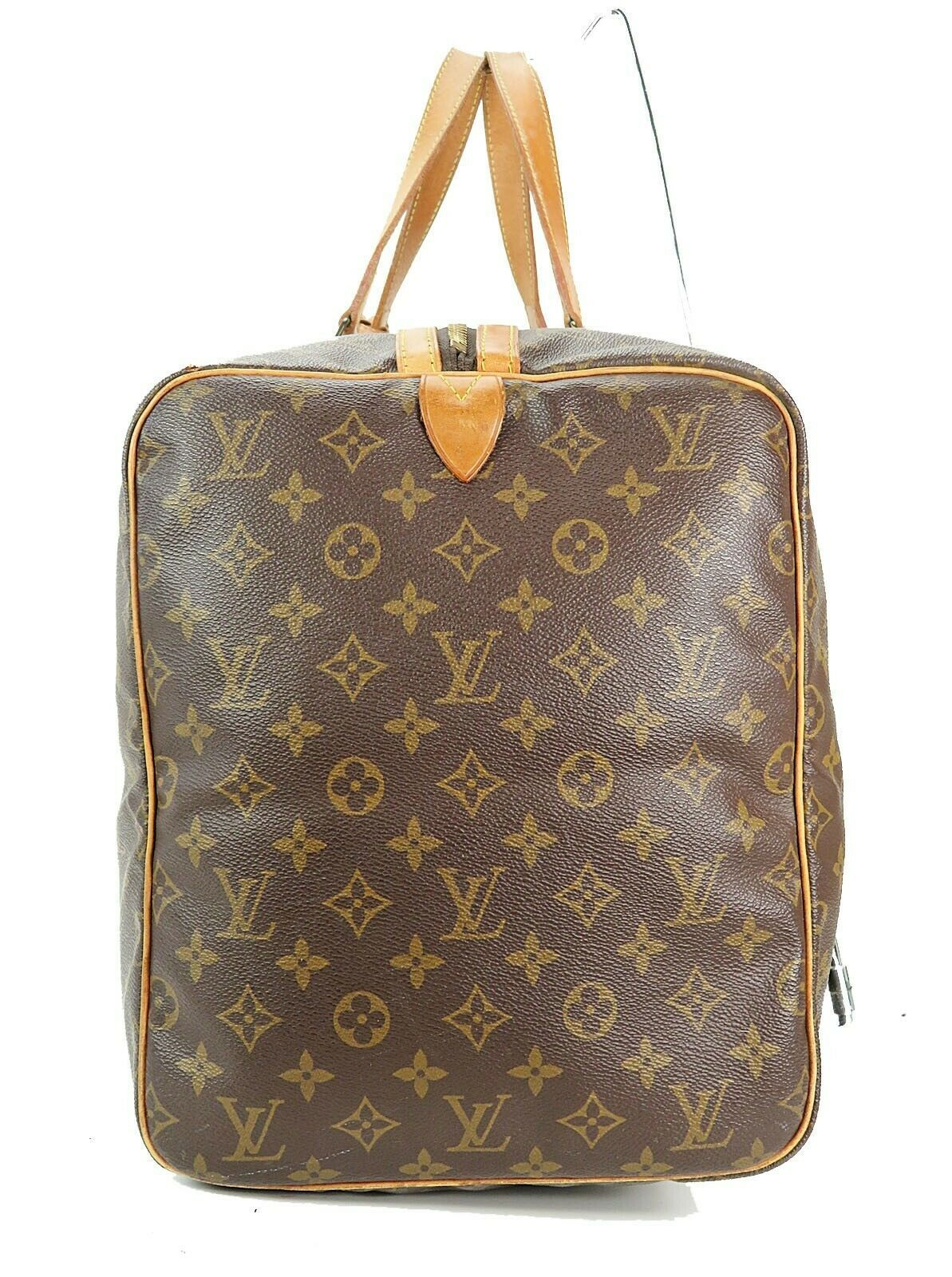 Authentic LOUIS VUITTON Sac Souple 55 Monogram Tote Duffle Bag #34978 image 4