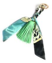 Women Tassel and Scarf Handbag Charm Accessory Key Ring US seller - $12.59