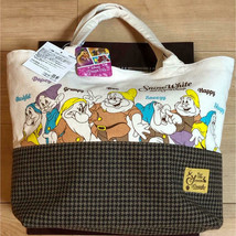 Disney Snow white 7 dwarfs Tote Bag Handbag Pochette School Bag canvas - $52.47
