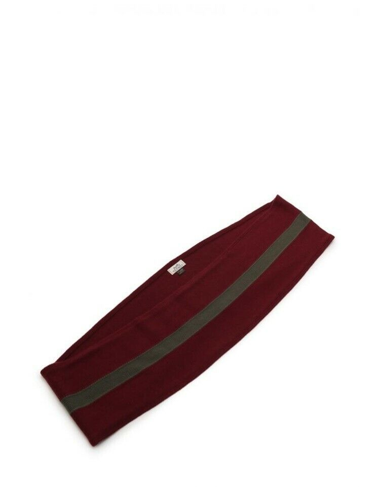 Hermes snood scarf knit cashmere Bordeaux gray Auth