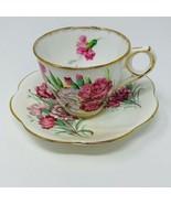 Vintage Carnation Royal Stafford Bone China Tea Cup & Saucer Made in Eng... - $19.60