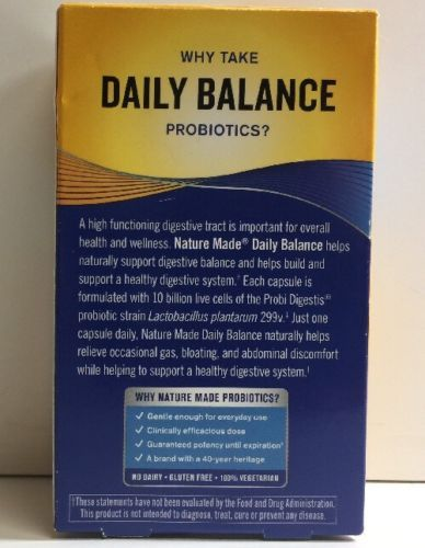 (New) Nature Made Daily Balance Digestive Probiotic - 30 Count