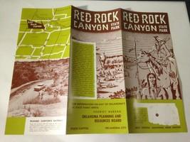 Vintage RED ROCK CANYON STATE PARK - Souvenir Guide 1950s Automobile Car  - $13.61