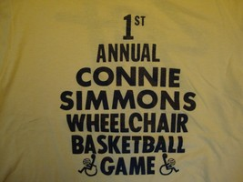 Vintage 1st Annual Connie Simmons Wheelchair Basketball Game T Shirt Size M - $11.87