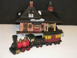 Dept 56 Dickens Village Chadbury Train Station #65285 MINT IN BOX - $34.30