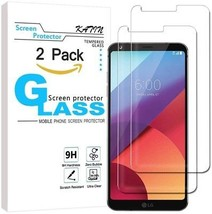 LG G6 Screen Protector Glass - KATIN [2-Pack] Tempered Glass For LG G6 ... - $18.22
