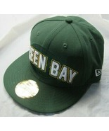 NWT NHL Green Bay Packers New Era 59FIFTY Fitted Green Baseball Hat Size 7 - $39.99