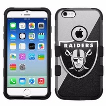 for Apple iPhone 6/6S Rugged Armor Impact Hybrid Case Oakland Raiders #J - €16,01 EUR