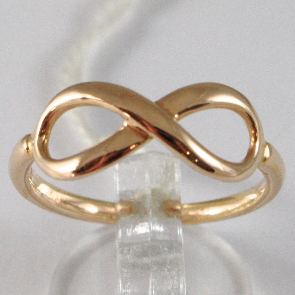 ANILLO DE ORO ROSA 750 18 CT, SÍMBOLO INFINITO, MADE IN ITALY