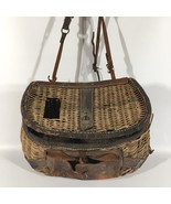 Vintage Antique Fishing Creel Tackle Tattered Authentic Wear Lake House ... - $168.32