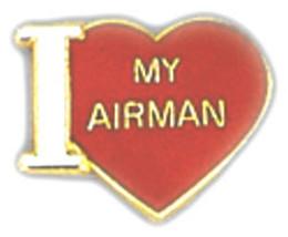 I Love My Airman Heart Air Force Usaf Pin - $13.53